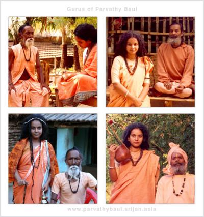 Parvathy Baul gurus