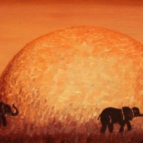Familie de elefanti