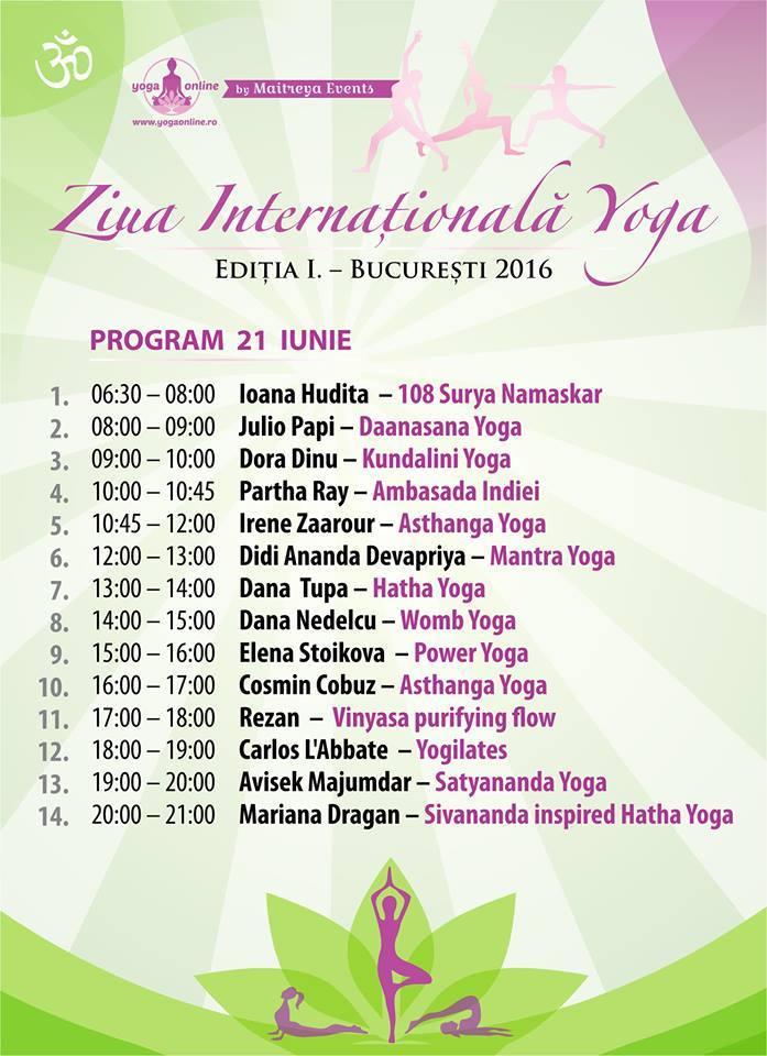 ziua internationala yoga 2016