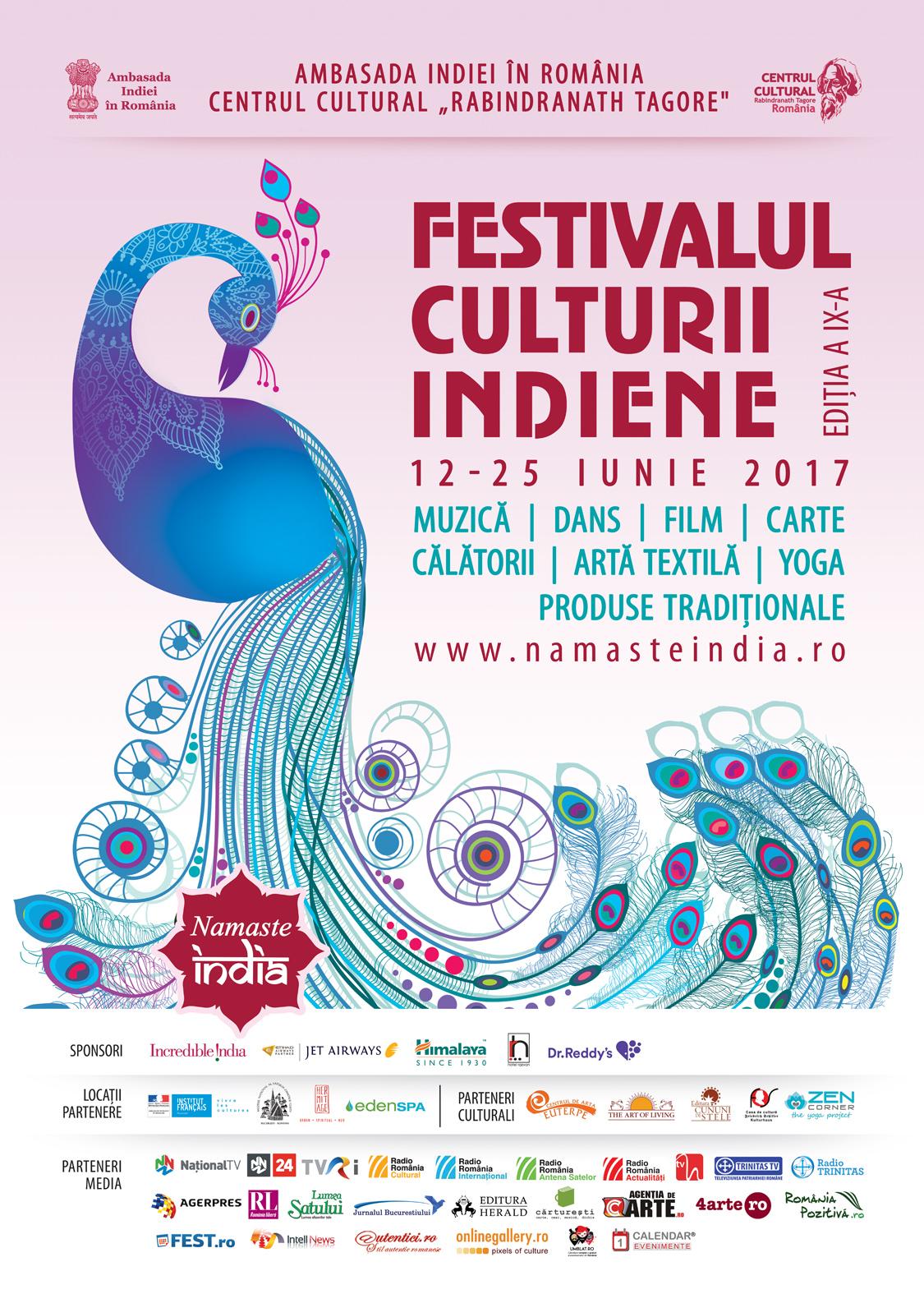 Poster Festivalul Namaste India 2017