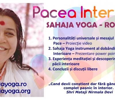 """""""Pacea interioară"""" – Sahaja Yoga România"""