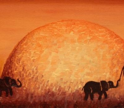 """""""India – mister si culoare"""". Expoziția de pictură a artistei Mihaela Cocheci."""