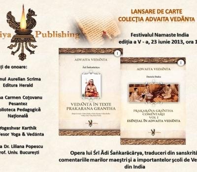 """Lansarea cărţilor """"Esenţial în Advaita Vedanta"""" şi """"Prakarana Grantha"""""""